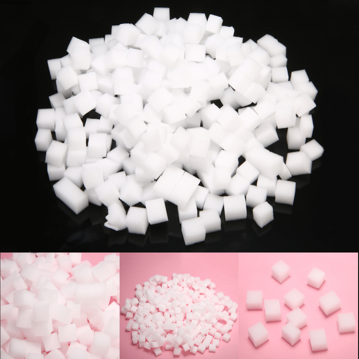 300pcs 10*10mm Simulation Jelly Cubes For DIY Slime / Jelly Cube Clear Slime Relief Clay Girls Crafts Decoration Toy Material
