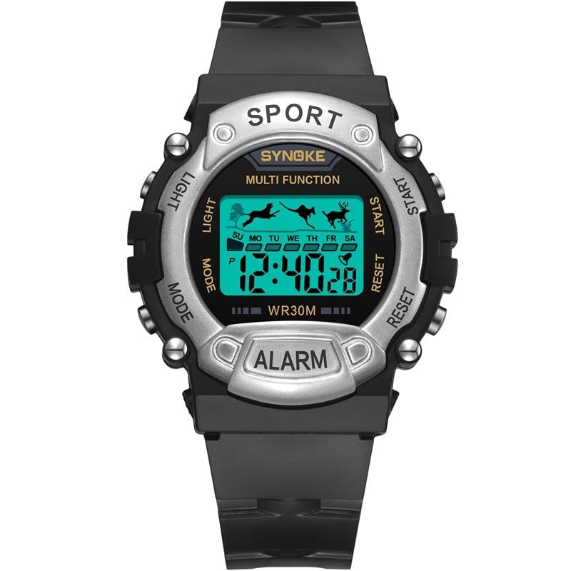 SYNOKE Kangaroo Desgin Kids Cartoon Watch Child Wristwatch Electronic LED Waterproof Watch Gift Alarm Date Electronic Watch