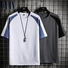 OEIN 2021 Sommer Neue Jugendliche Mode männer T-shirt Einfarbig Streetwear Männer Schwarz T Hemd Männlichen Tops Hip Hop t-shirt Männer Marke