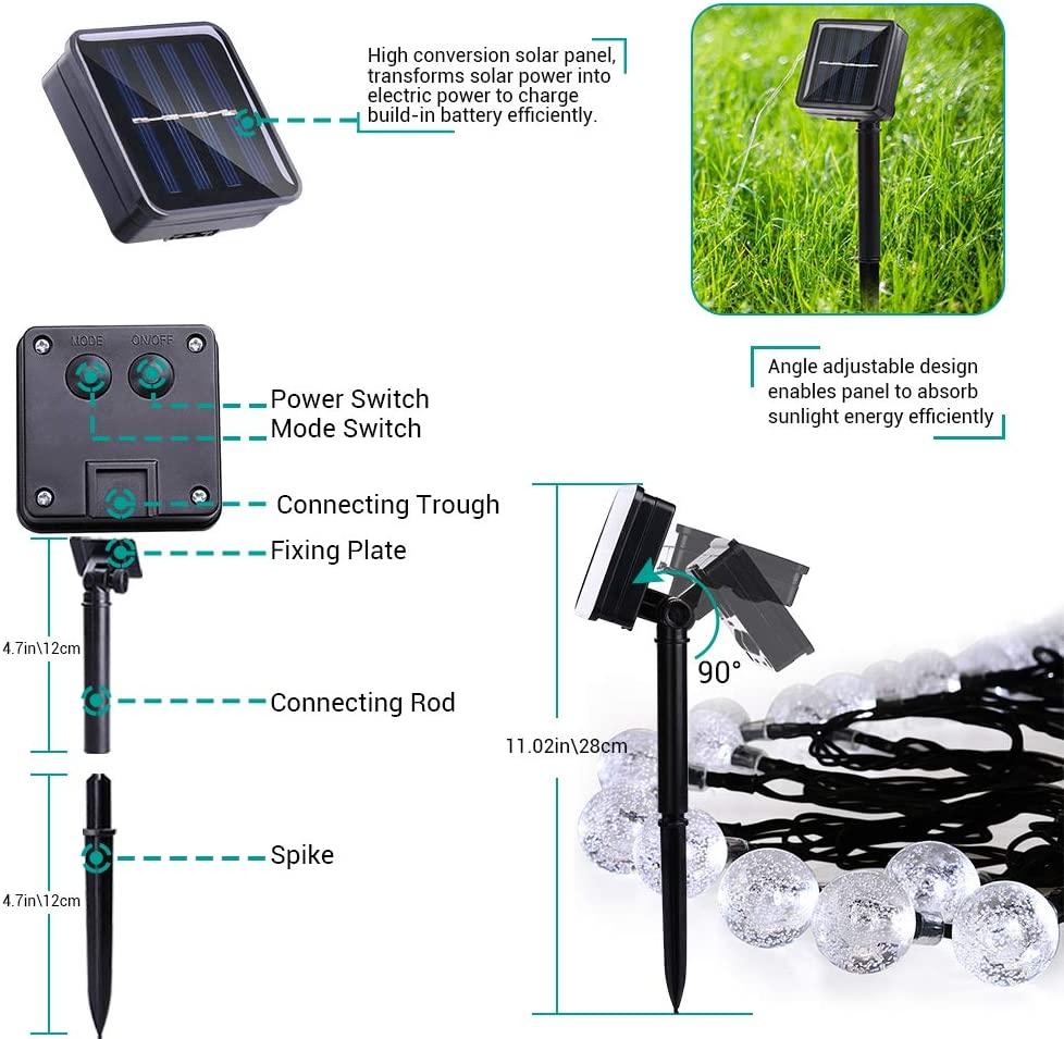 Solar Powered LED Outdoor String Lights - 10/20/50 LEDS (5M/10M Solar Lamp)
