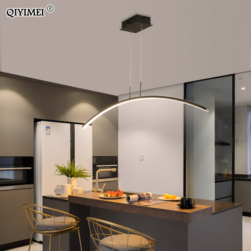 Remote control Modern LED Pendant Lights For study Kitchen Dining Living Room Cord Hanging Lustre Indoor Lamps Input AC90-260V 3