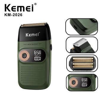 KM-1996,KM-2024,KM-5027,KM-2026 T9 Kemei barbeador elétrico para homens twin blade alternativo sem fio navalha barba cabelo usb recarregável máquina de barbear barbeiro trimmer