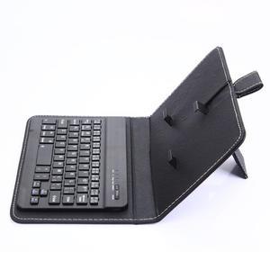 Портативная Мобильная Беспроводная Bluetooth-клавиатура с чехлом из искусственной кожи, защитный чехол и кронштейн для телефона iPhone, Samsung, Xiaomi
