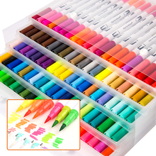100 color graffiti double-headed marker pen PP box set childrens hand-painted comic soft hair watercolor