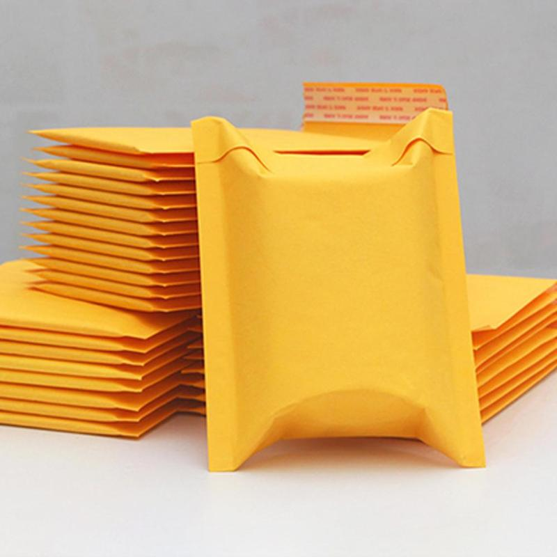 1pc Bubble Bag Yellow Kraft Paper Bubble Envelopes Film Bags Self Seal Mailing Waterproof Packing Padded School Office Supplies image