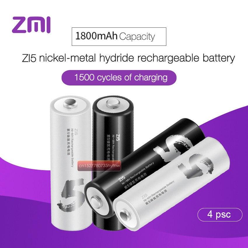 2019 Original Xiaomi ZMI ZI5 KTV Bateria Recarregável 1800mAh 1.2V Ni-MH bateria, bateria do controle remoto