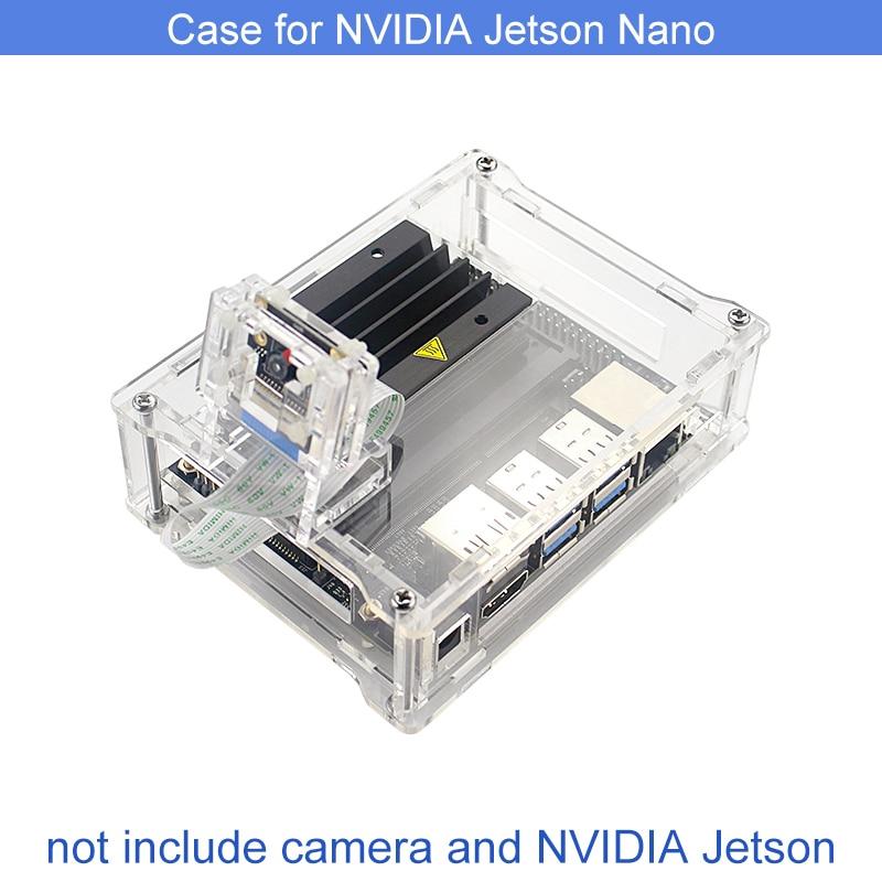 NVIDIA Jetson Nano Acrylic Camera Holder + Clear Case Support Installation Acrylic Case For 8MP 77Degree IMX219 Sensor Webacm