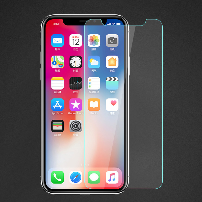 Tempered Glass Screen Protector For IPhone 11 Pro Max Toughened Glass For IPhone 8 Plus 7 6s Plus Front Screen Protector