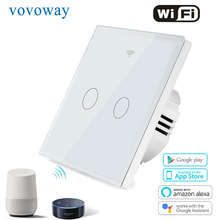 Vovoway EU touch switch,light switch,WIFI phone APP  control,interrupter,Smart home application,2/3Gang AC110V220V