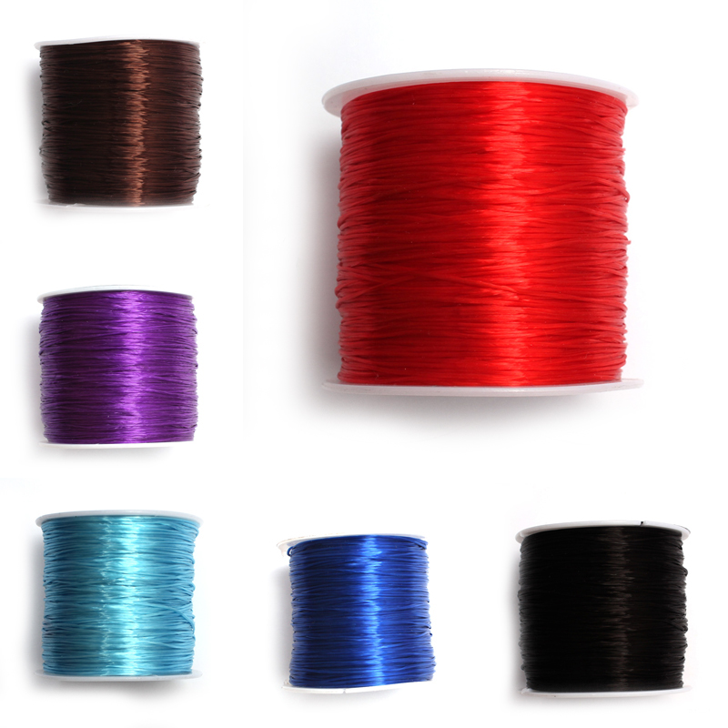 1Roll/lot 0.6mm 10colors Elastic Thread Round Crystal Line Nylon Rubber Stretchy Cord For Jewelry Making 60M