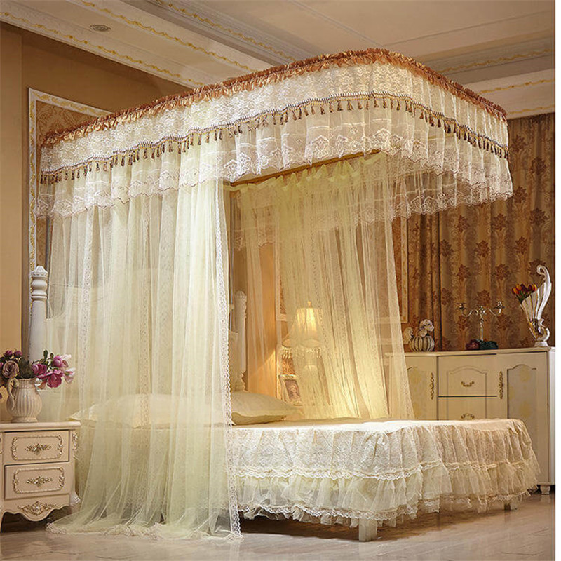 Canopy Mosquito Net 100/% Cotton Tent Curtain Ceiling Net Cover Single-King Bed