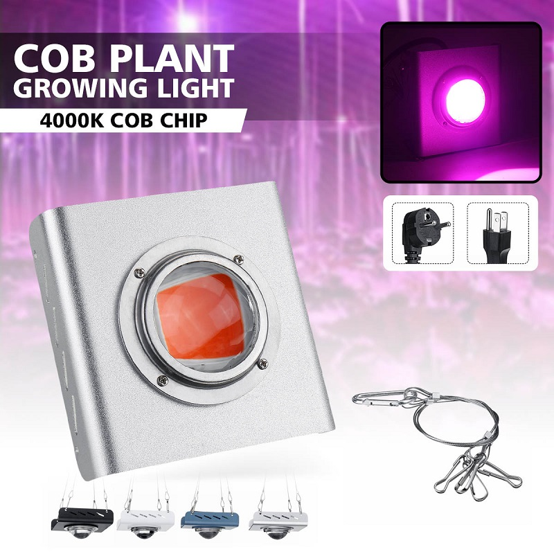 4000K COB LED Grow Light Full Spectrum 380-800nm 144 LED Grow Lamp Waterproof For Indoor Outdoor Hydroponic Growth Lamp