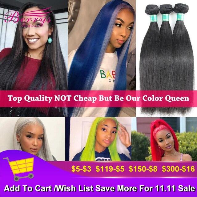 Brasilianische Reines Haar Gerade Haar Extensions 3 Bundles/Lot 8 34 Zoll Doppel Maschinen Einschlag Natürliche Farbe Berrys mode Haar