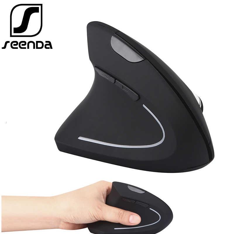 SeenDa 2.4g dikey fare kablosuz fare sol el bilgisayar oyun fare USB optik dizüstü için fare dizüstü bilgisayar