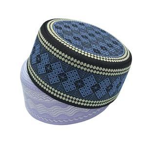 Image 2 - 2020 New Muslim Men Prayer Hats Cotton Embroidery Leisure Saudi Arabia Islamic Hat Men Headscarf Clothing Topkippot Turban