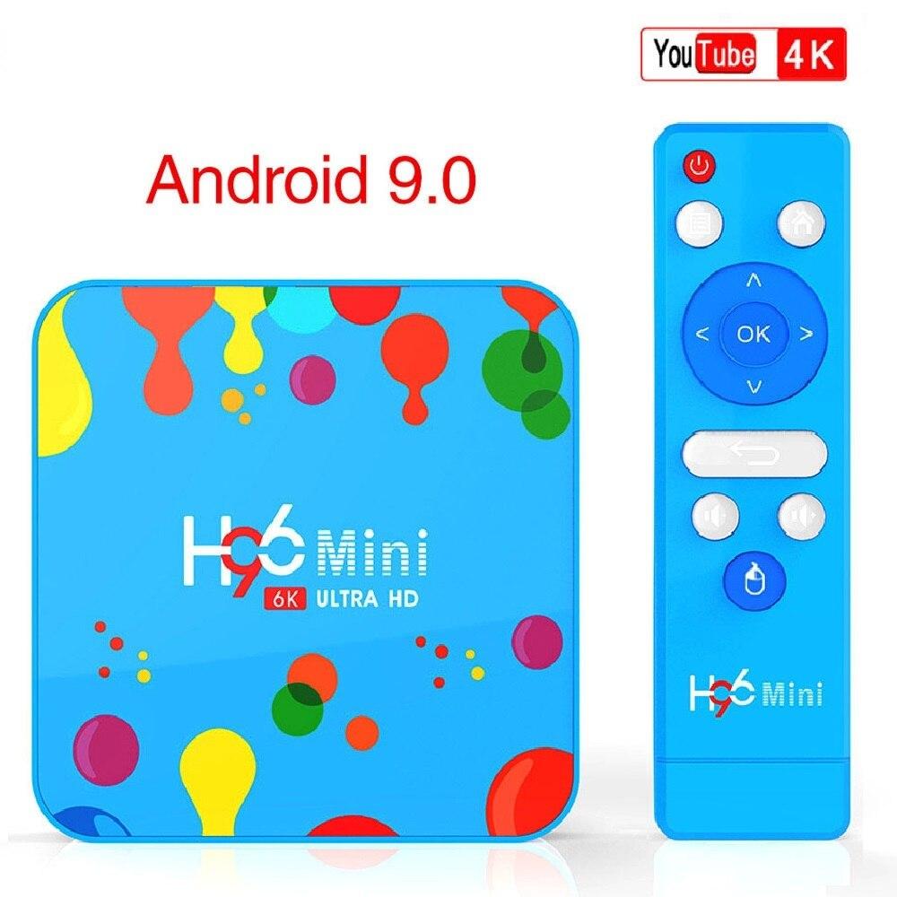 H96 MINI Android 9.0 4GB RAM 128GB ROM TV Box Allwinner H6 Quad Core 6K H.265 Wifi HD Google lecteur décodeur lecteur multimédia