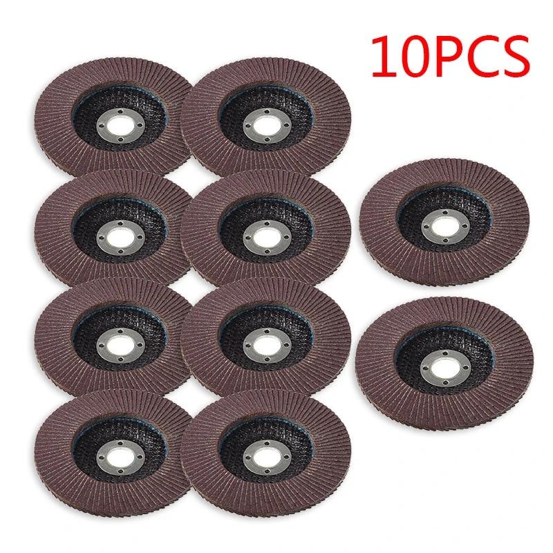 10pcs Flap Wheel Disc Shaft Abrasive Sanding Drill Polish For Rotary Tool US