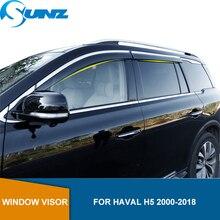 Side Window Deflectors For Great Wall Haval H5 2000 2018 Window Visor Window Shields Sun Rain Deflector Guards SUNZ