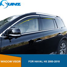 Visor de ventana para HAVAL H5 2000 2018 deflectores de ventana laterales protectores de lluvia para HAVAL H5 2000 2018 SUNZ