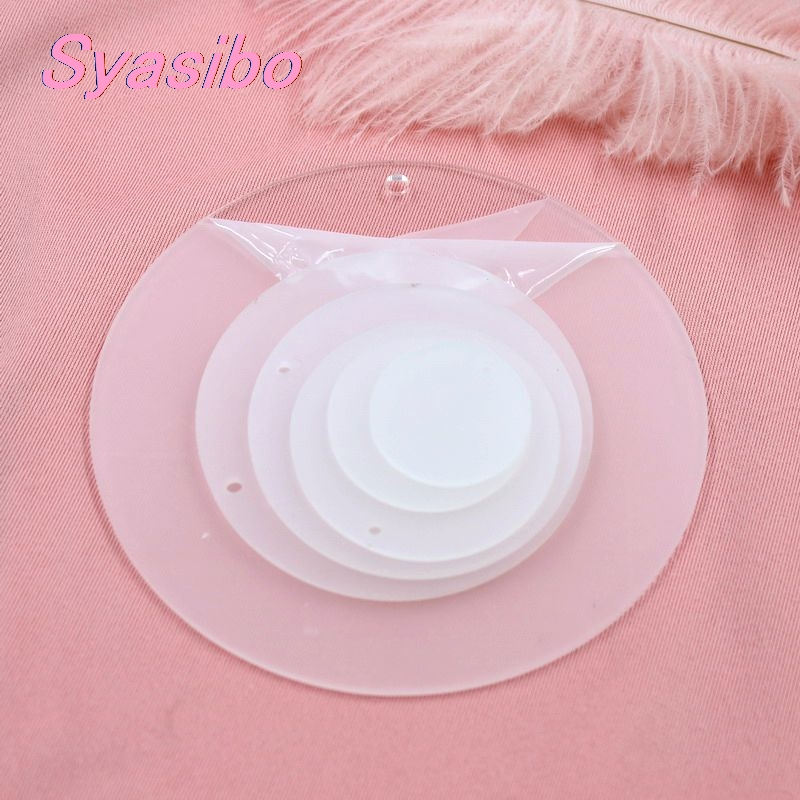 60mm/76MM/101mm/120mm Round Blank Clear Acrylic Circle Monogram KeyChain Party Gift 2.4in/3.0in/4in/4.7in -AC1045