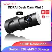 Ddapai traço cam mini 3 1600p hd dvr câmera do carro mini3 unidade automática veículo vídeo recroder 2k android wi-fi inteligente 24h estacionamento câmera