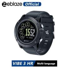 Zeblaze relógio smartwatch vibe 3 hr, smartwatch colorido com display, à prova d água ip67, monitor cardíaco, para ios e ios android, android