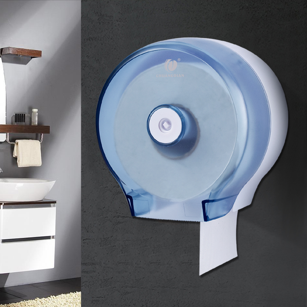 New Round Roll Paper Holder Wall-mounted Bathroom Tissue Dispenser Rest Room Waterproof Toilet Paper Holder