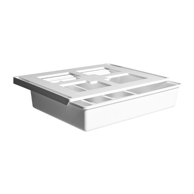 Self Adhesive Under Desk Drawer Hidden Organizer Storage Box Holder Stationery Case Pencil Tray Holder
