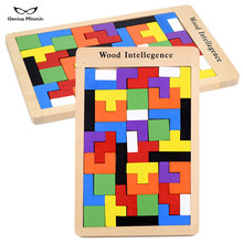 Hot Tetris Intelligence Building Blocks RB13 Childrens Puzzle Wood Pieces Wooden Toys