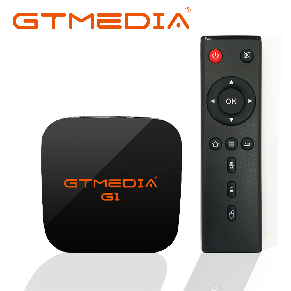 цена на Android 7.1 TV Box 1G RAM 8GB 2.4G Wifi Quad Core Amlogic S905W 4K Google Player Youtube Set Top Box GTmedia G1 GTUI IPTV TV Box