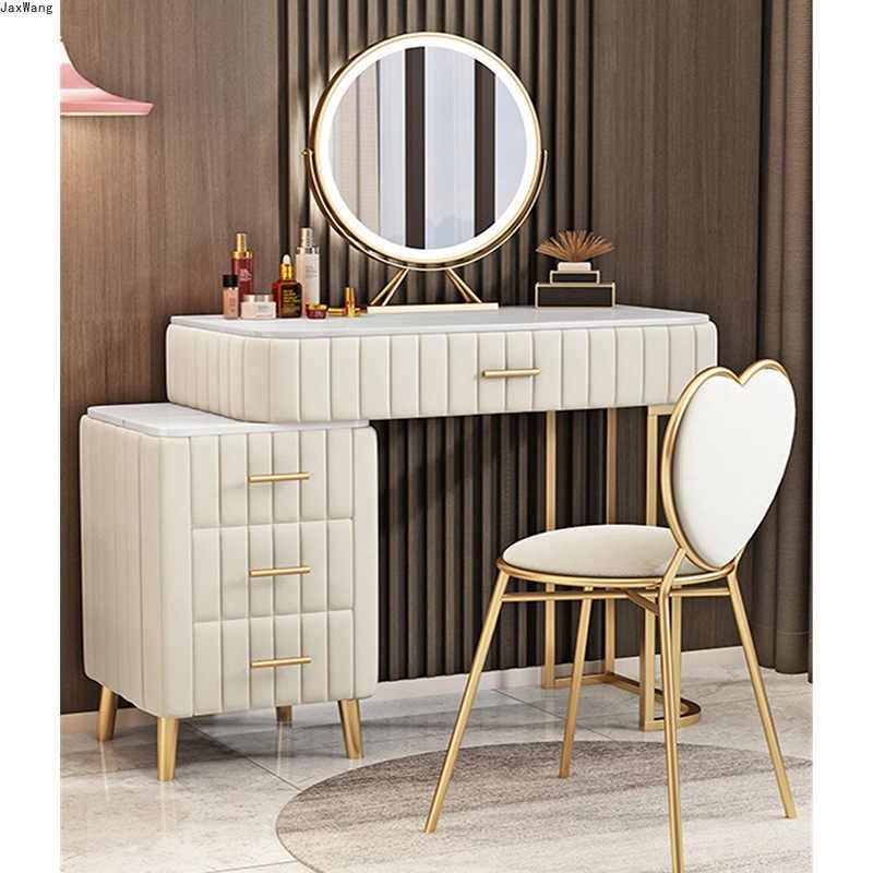 Moderne coiffeuse dorée chambre coiffeuse fer forgé Salon de