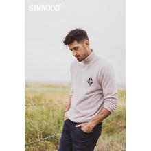SIMWOOD 2020 autumn winter new turtleneck sweater men casual high quality basic knitwear  texture plus size brand clothing 582