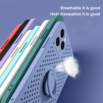 Heat dissipation Silicone Case For iPhone 12 11 Pro XR X XS Max