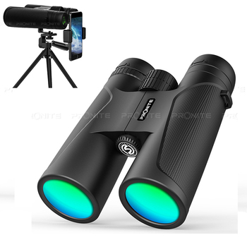 Professional HD Telescope 12x42 Zoom Vision Binoculars scope BK4 Prism Optical Lenses Outdoor Hunting Bird Watching Camping professional roof prism 10x50 binoculars powerful hunting telescope nitrogen waterproof binocular big vision for bird watching