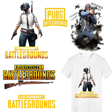 Iron on Game Pubg Patches for Clothing DIY T-shirt Heat Transfer Vinyl Letter Patch Stickers Stripes Clothes Thermal Press