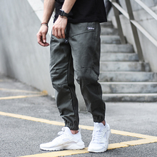 Fashion Streetwear Casual Joggers Pants Men Loose Fit Slack Bottom Cargo Harem Trousers Skateboard Hip Hop Hombre