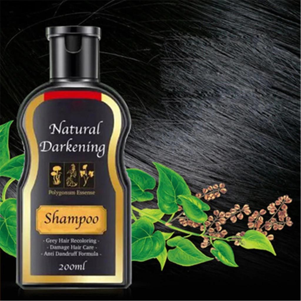 Natural Darkening Shampoo Permanent Black Hair Shampoo Natural Ginger Coloring Conditions Prevents Hair Loss White Hair Cover Hair Care Sets Aliexpress