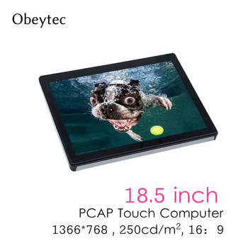 1366*768, 18.5inch Touchscreen computer rk3288 2+8g, capacitive touch, 250cd/m2, with wifi, RK mother board OB-TPCR185