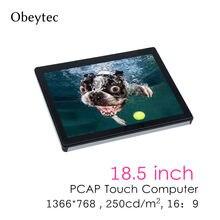 OBT185K-RK3288 1366*768, 18.5 pouces écran tactile ordinateur rk3288 2 + 8g, tactile capacitif, 250cd/m2, avec wifi, carte mère RK
