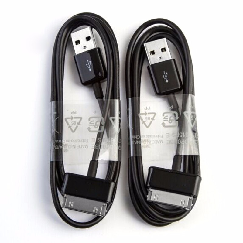 10pcs best quality <font><b>usb</b></font> data sync charger cable cord for <font><b>samsung</b></font> galaxy Tab(GT-P1000) 2 10.1 N8000 <font><b>P5100</b></font> P5110 P7510 p3100 p3110 image