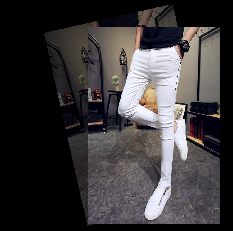Brand New Men Summer Pants Fashion 2020 All Match Skinny Pants Men Streetwear Casual Trousers Men Hot Sale 14