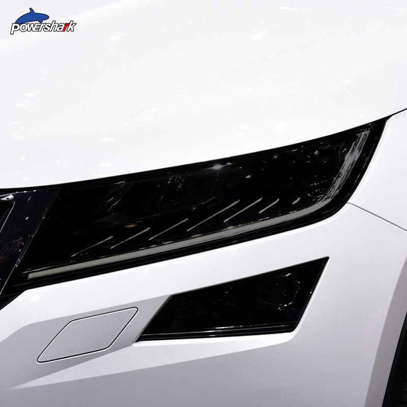 2 предмета тонировка на автомобильные фары черный Защитная пленка защита прозрачный ТПУ Стикеры для Skoda Kodiaq 2016 присутствует аксессуары|Наклейки на автомобиль| | АлиЭкспресс