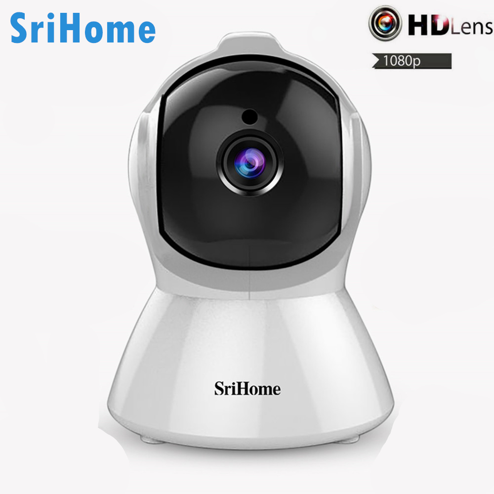 SriHome SH025 IP Camera 2MP 1080P HD Indoor Network Wireless IR-Cut Night Vision Smart Motion Tracking Security