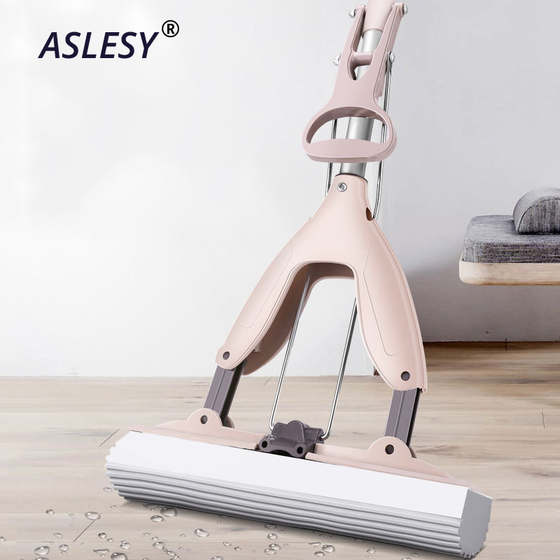 Forte piso mop esponja absorvente mop alça de aço inoxidável almofada de microfibra piso casa ferramenta limpeza casa banheiro cozinha limpa
