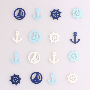 Mixing Color Anchor Wooden Buttons for Handwork for Clothing Scrapbooking Crafts DIY Needlework Accessories Buttons Decorative E