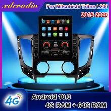 Xdcradio – autoradio Android 10, 10.4 pouces, Navigation, lecteur multimédia, DVD, écran Vertical type Tesla, pour voiture Mitsubishi Triton L200