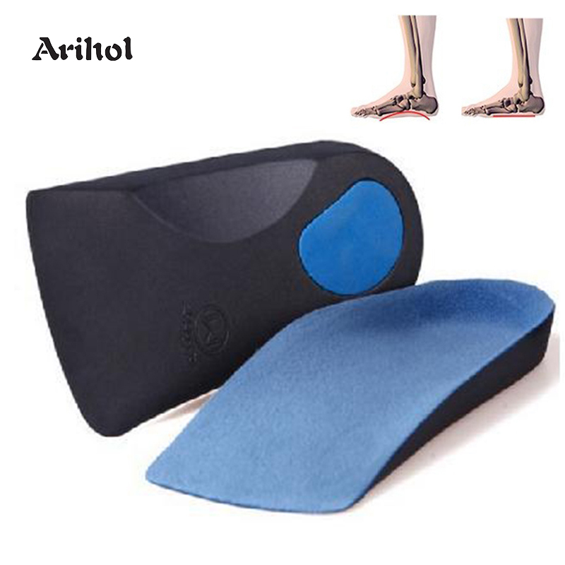 Unisex 3/4 Orthotics Arch Support Heel Pad For Flat Feet Correction, Plantar Fasciitis Insert Heel Spur EVA Insoles Foot Care