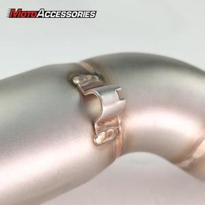 Image 5 - Kawasaki motocicleta escape tubo de ligação do meio deslizamento na seção silenciador para kawasaki klr650 2008 2009 2010 2011 2012 2013 2014 2015
