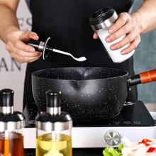 Glass Cruet Seasoning Box Home Honey Pepper Salt Durable TN88