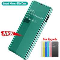 Espelho de Vista Da Janela Virar Caso inteligente Para Samsung Galaxy S10 S9 S8 Plus Nota 9 8 10 A10 A20 A30 a40 A50 A70 A7 2018 Capa De Couro